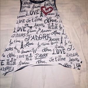 Girls Tank Top and Shorts Outfit Size Medium